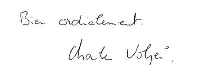 Signature Charles Volpei